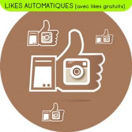 Forfait (Pack) de Likes Automatiques - incluant des likes Instagram gratuits