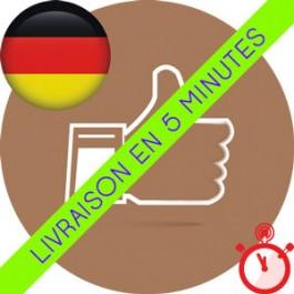 Likes Allemands Instagram (Humains et réels)