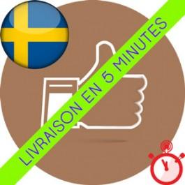 Likes Suédois Instagram (Humains et réels)