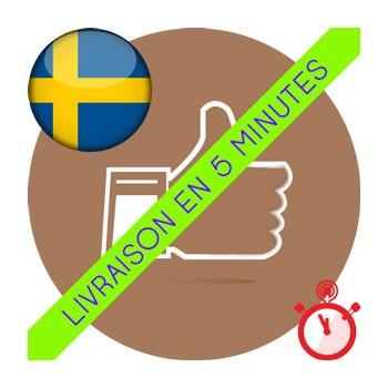 Likes Suédois Instagram (100% réels)