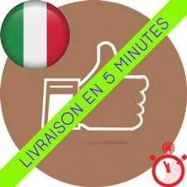 Likes Italiens Instagram (Humains et réels)