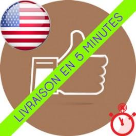 Likes Américains (USA) Instagram (Humains et réels)