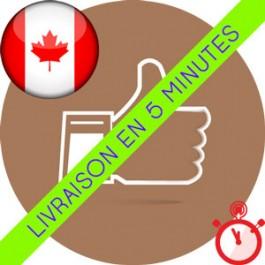 Likes Canadiens Instagram (Humains et réels)