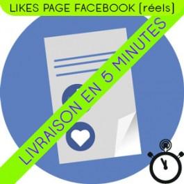 Acheter des Likes Page Facebook réels et actifs