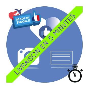 Likes Français Facebook (Humains et Réels) pour Post/Photos