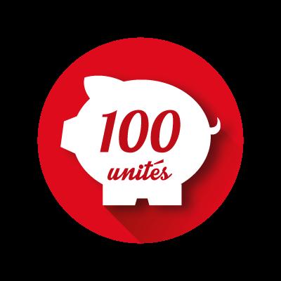 Crédit Store 100 unités