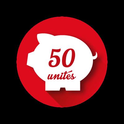 Crédit Store 50 unités