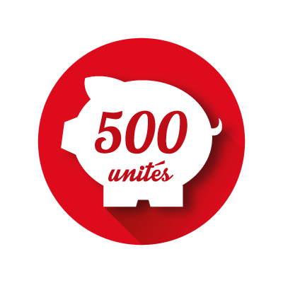 Crédit Store 500 unités