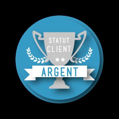 Statut Argent - 8% de remise sur vos achats de likes et followers Instagram