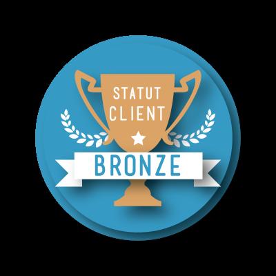 Statut Bronze - 5% de remise sur vos achats de likes et followers Instagram